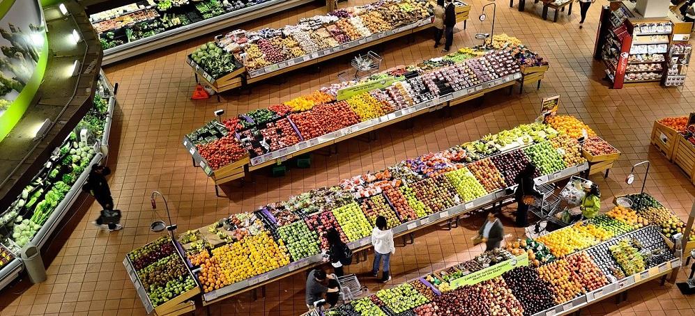 Supermarktauslage